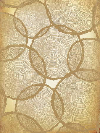 rings on a tree: Aged Background with Tree Rings Pattern