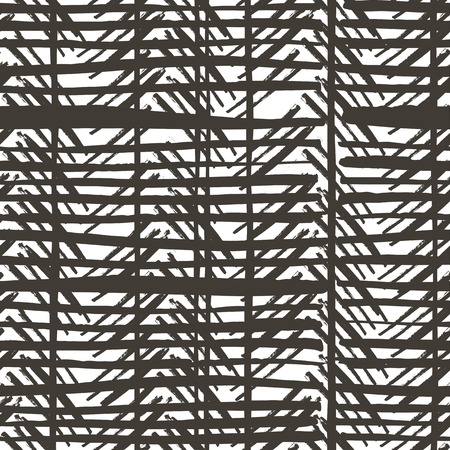 vector pattern: Hand drawn stripes pattern. Seamless vector design. Illustration