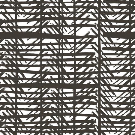 Vector pattern: Hand drawn stripes pattern. Seamless vector design. Hình minh hoạ