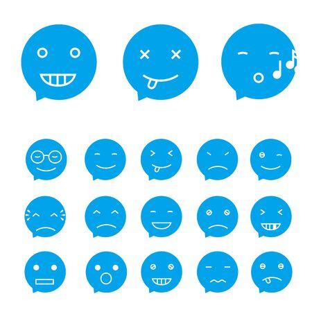 giggle: Smile set, vector Illustration