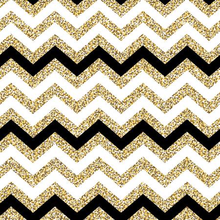 classic art: Chevron seamless pattern. Glittering golden surface