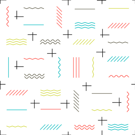 abstract pattern: Geometric lines seamless pattern colorful. Thin lines pattern. Hipster themed abstract seamless pattern.