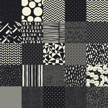 patterns vector: 25 seamless different vector patterns.