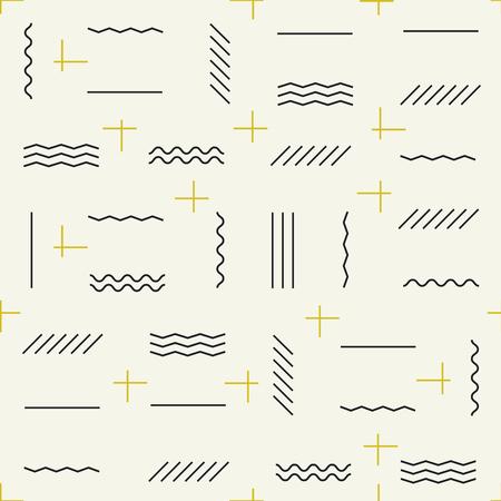 Líneas geométricas de patrones sin fisuras con elementos dorados