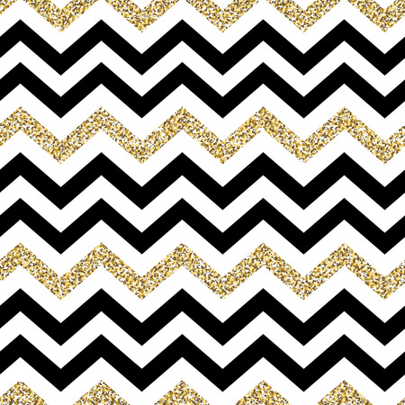herringbone background: Chevron seamless pattern. Glittering golden surface