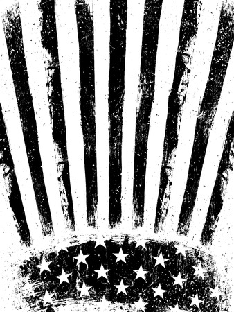AMERICAN FLAG: Grunge Aged American Flag Background. Vector Template. Illustration