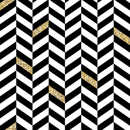 seamless patterns: Classic Seamless Chevron Pattern. With Glittering Golden Parts