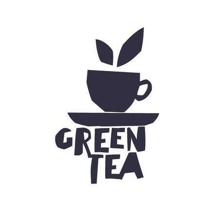green tea cup: Green Tea. Cup of Tea and text Green Tea.