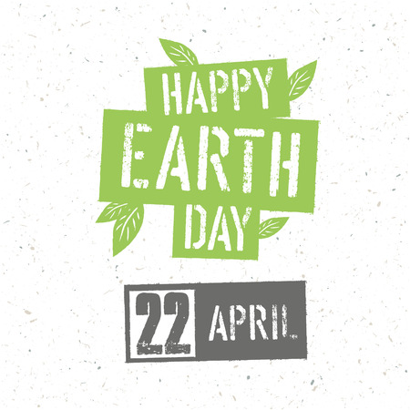 Typographic design for Earth Day.