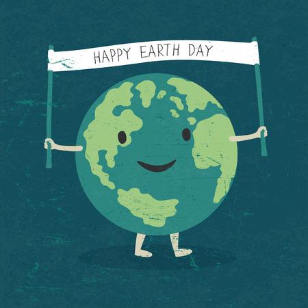 Cartoon Illustratie van de Aarde.