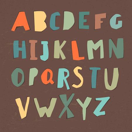 hand paper: Paper Cut Alphabet.