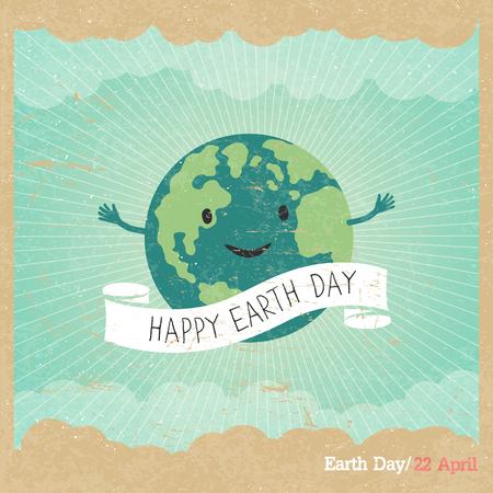 wereldbol: Cartoon Illustratie van de Aarde.