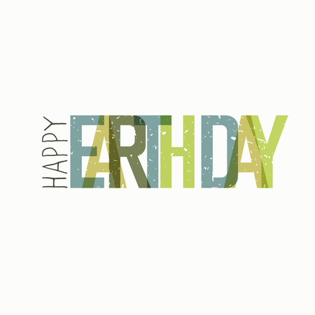 earth day: Earth Day Celebration Typography. Illustration
