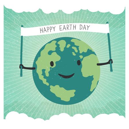 green earth: Cartoon Earth Illustration.