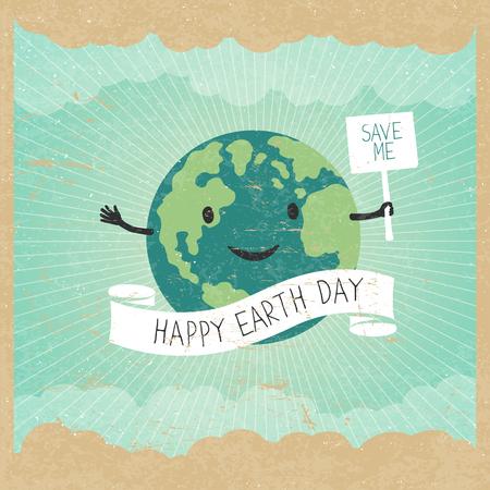 Cartoon Earth Illustration.