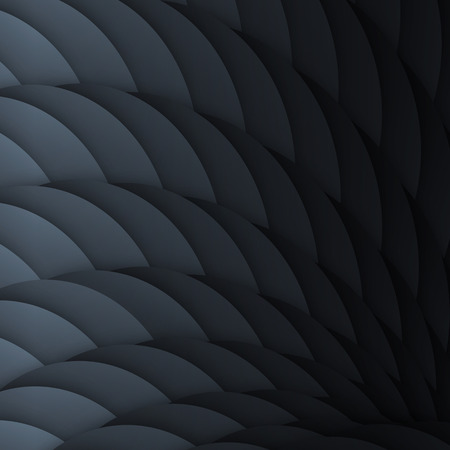 graphic pattern: Black scales. Abstract geometric background with light effect.