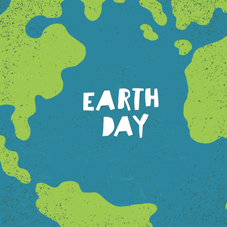 earth day: Earth day concept. Creative design poster for Earth Day.