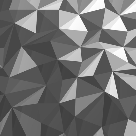Driehoekige Low Poly monochrome achtergrond Stock Illustratie