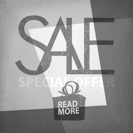 noir: Sale Design Template on Film Noir Background