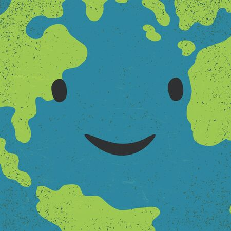 earth day: Earth face closeup. Earth day concept image