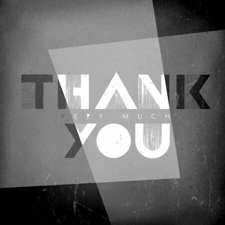 silent film: Thank you card. Film noir styled.