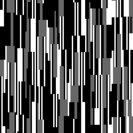 Seamless black and white pattern, vertical lines Stock Illustratie
