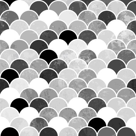 rybie łuski monochromatycznych Seamless Pattern