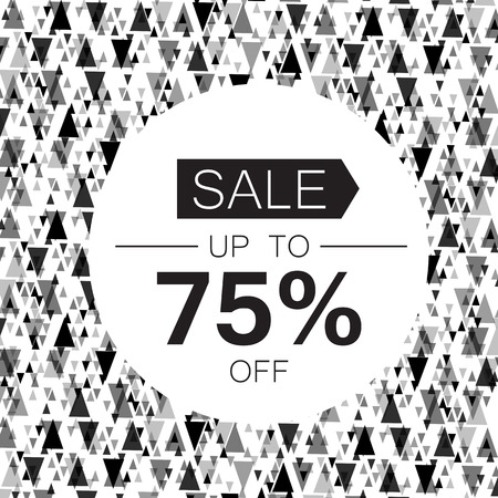 discount store: Sale design template. Abstract triangle monochrome background