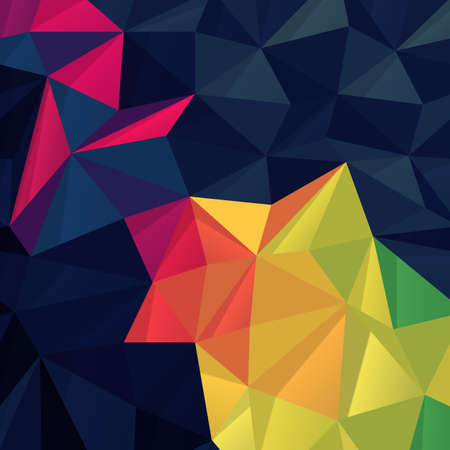 terrain: Abstract colorful triangles background Illustration