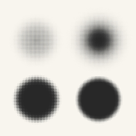 fade: Abstract circle shapes with space for text. Halftone design element. Illustration