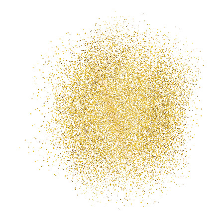 gold circle: Gold sparkles on white background.