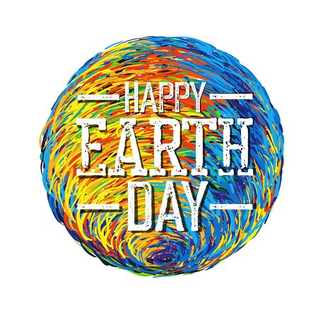 earth day: Earth Day Poster. Earth Illustration.  Earth illustration on white. Isolated. Celebration Earth Day Card template. Happy Earth Day