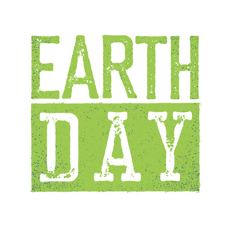 grunge layer: Earth Day. Grunge texture in separate layer.