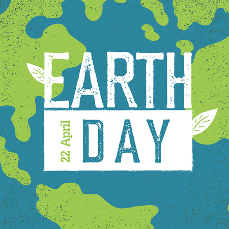 earth day: Grunge Earth Day.  Earth day, 22 April. Earth day celebration design template with Earth background. Planet Earth closeup view.