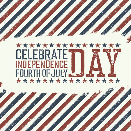 declaration of independence: Greeting card for fourth of july holiday. Independence day celebration. Design template.