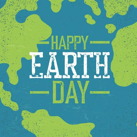 earth day: Grunge Earth Day. Stamp letters.  Earth day. Earth day celebration design template with Earth background. Planet Earth closeup view.