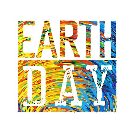 earth day: Earth Day Colorful. Illustration