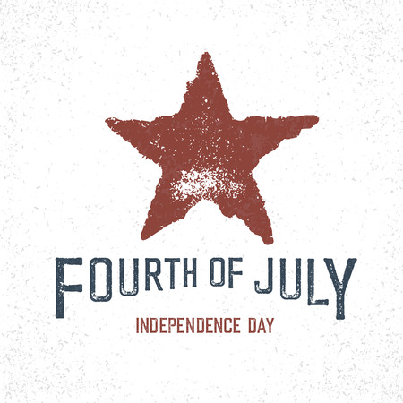 patriotic america: Independence Day Label for Holiday. Design template.