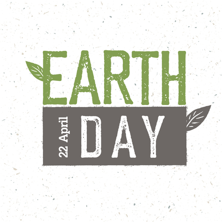 earth day: Grunge Earth Day.  Earth day, 22 April. Earth day celebration design template with recycled paper texture.