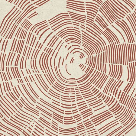 rings on a tree: Happy Earth Day on Tree Rings Background. Template for Celebrating card Illustration