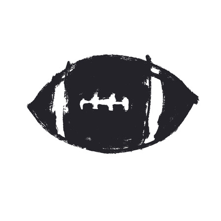 college footbal: Grunge American football ball. Football vector icon