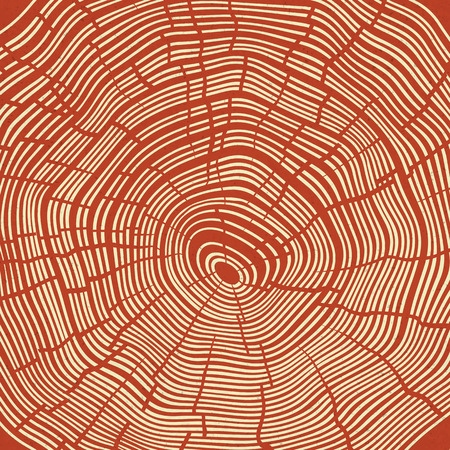 Tree Rings Red Textured Background.