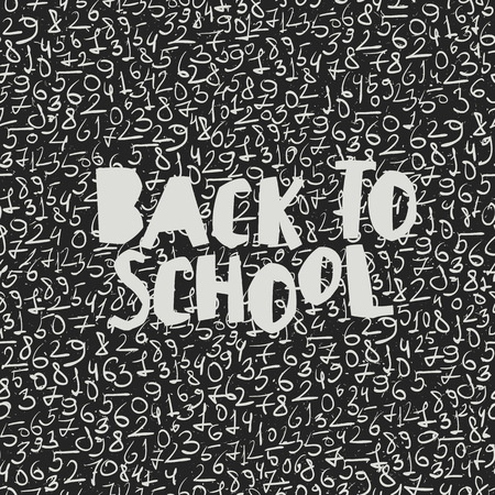 numbers background: Back to school poster design with seamless numbers pattern background Illustration