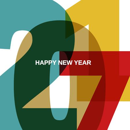 2017 新年あけましておめでとうございます  イラスト・ベクター素材