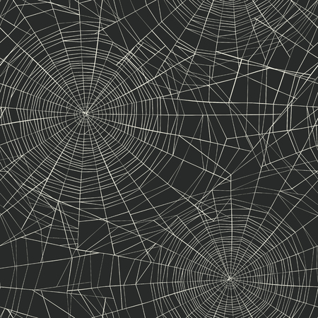 web background: Halloween themed seamless pattern. Spider web background. Illustration