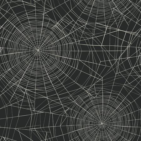 Modèle sans couture sur le thème d'Halloween. Arrière-plan de la toile d'araignée Vecteurs
