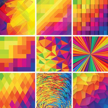 Colorful abstract backgrounds. Vector set of design elements.