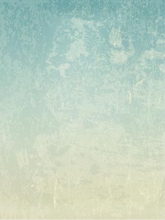 Grunge vintage oud papier vector achtergrond. Voor retro kijkt uitnodigingskaarten en vintage ontwerpen. Abstract blue sky view