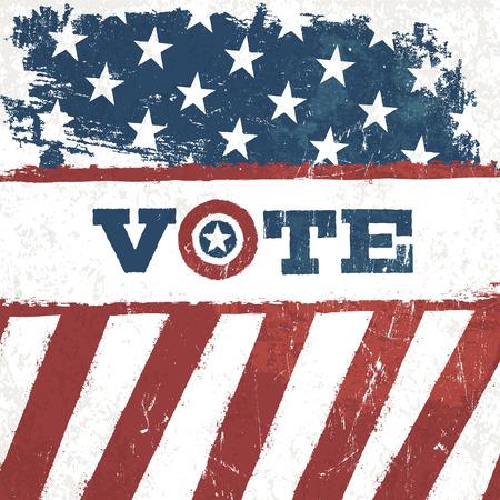 presidential: Vote. american flag grunge background. Vector design presidential election.