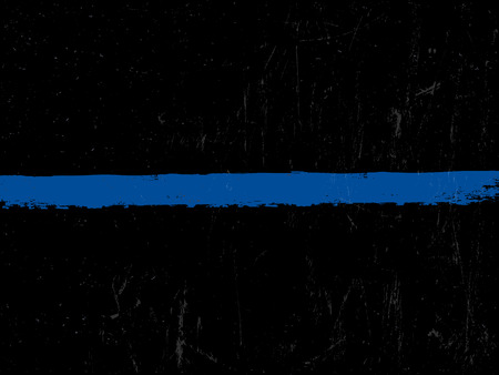 The Thin Blue Line. Police symbol.